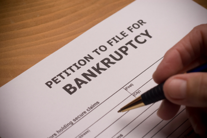 What should you do if your tenant files for bankruptcy?